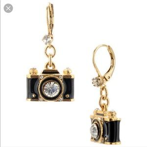 Authentic Betsey Johnson camera earrings